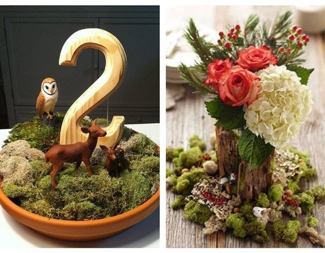 woodland creatures centerpiece