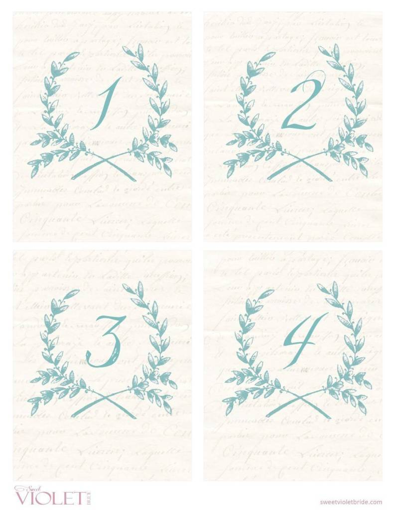 Wheat wreath table numbers free wedding printable for Table numbers template for weddings