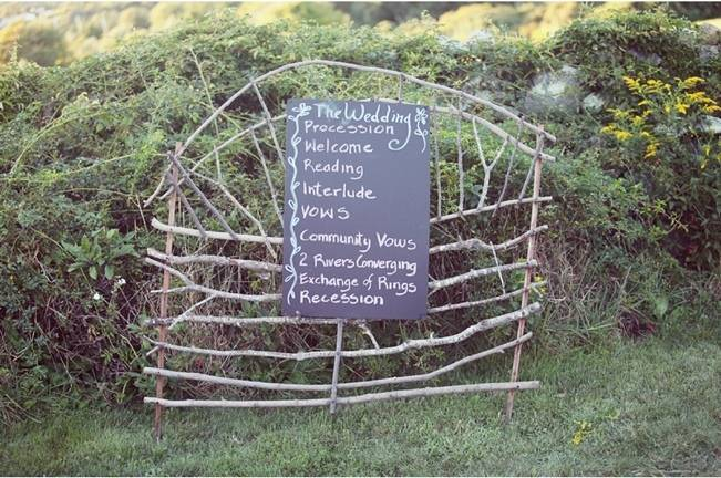 rustic twig wedding sign