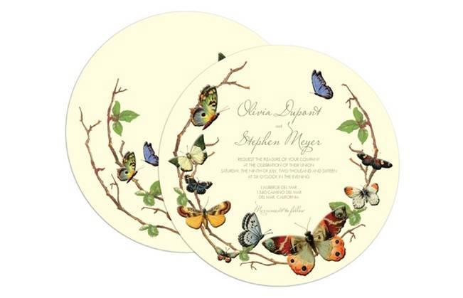 Claire Pettibone Wedding Stationery - Fluttering Forever