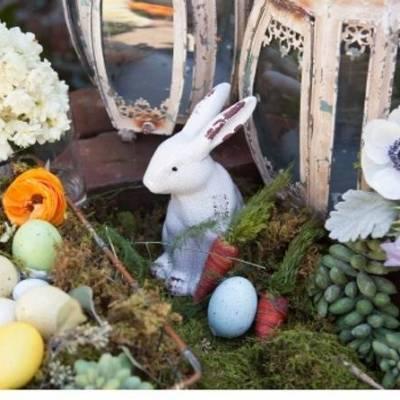 Shabby Chic Easter Table Inspiration {Angela Mazanti Design}