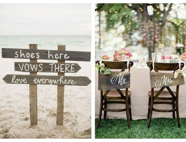 16 Awesome Rustic Wedding Signs 2