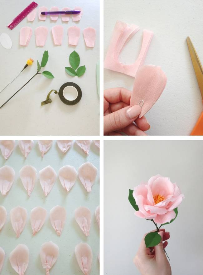 making a paper rose