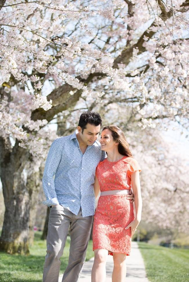 Vancouver Cherry Blossom Engagement {Maru Photography} 3