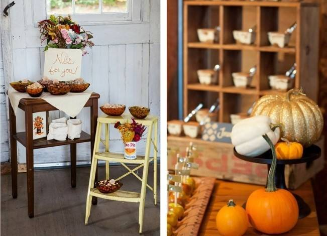 AutumnInspired Wedding Dessert Tables