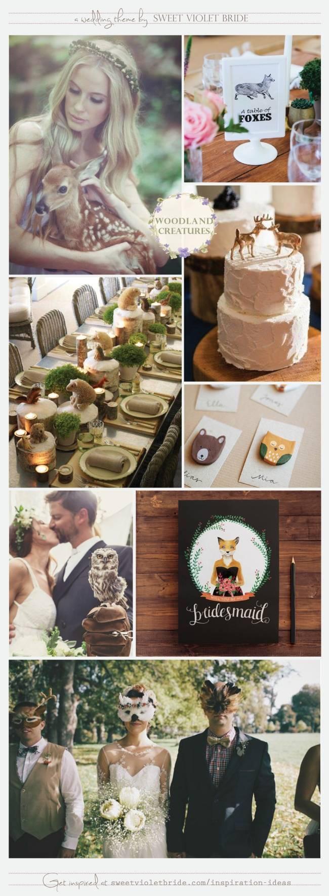 Wedding Theme Board 30 - Woodland Creatures