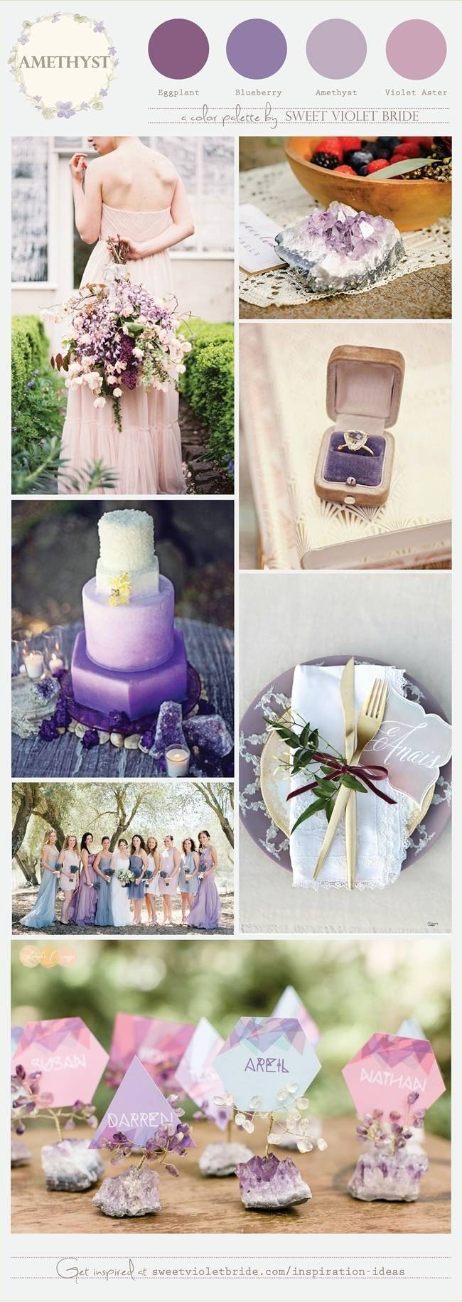Amethyst Wedding Palette