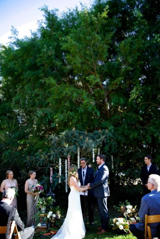 Backyard Vintage Boho Wedding {Christina O'Brien Photography} 11