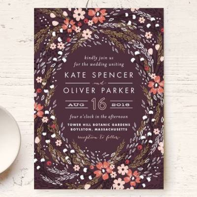 Trending Wedding Stationery: Botanical Borders & Starry Nights