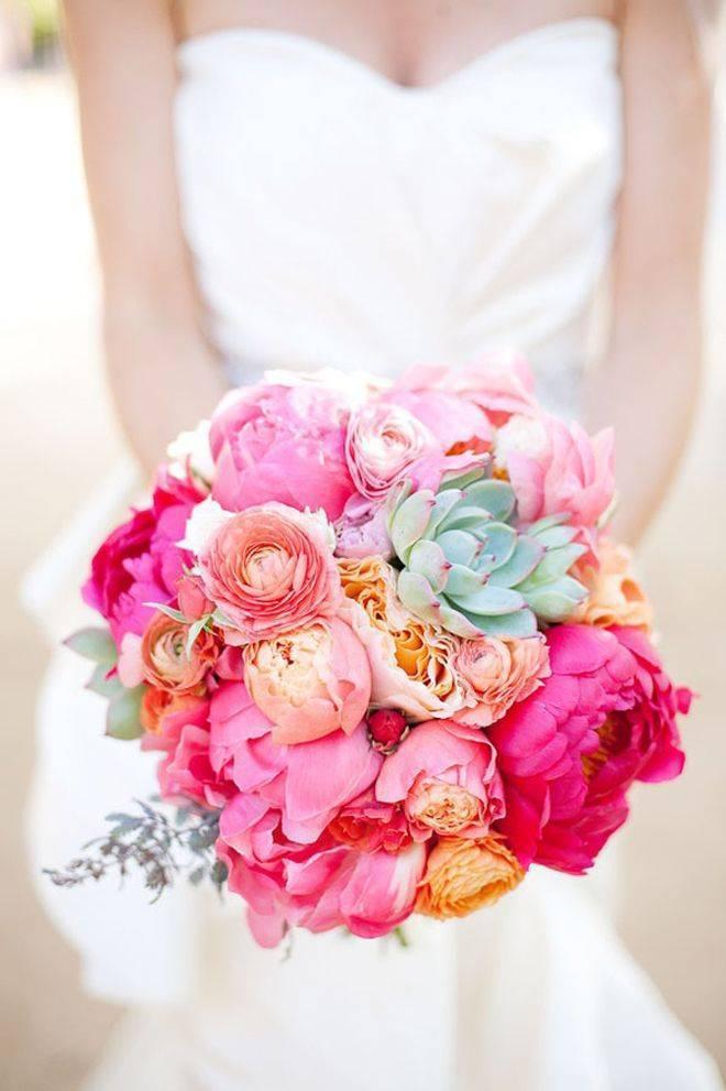Fuchsia wedding bouquet inspiration 1