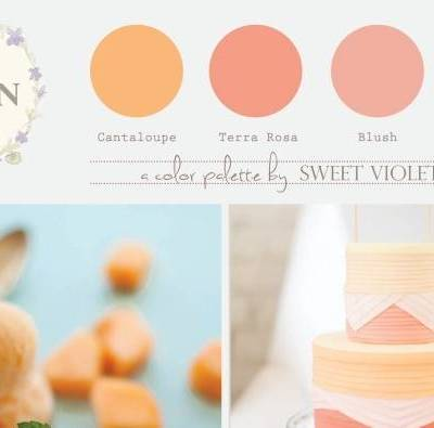 Wedding Color Palette: Melon