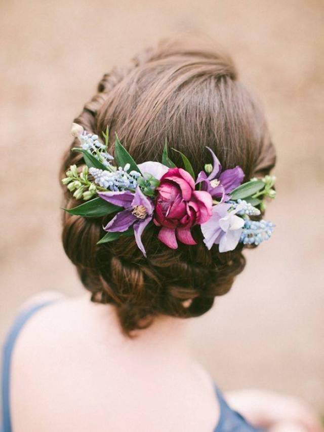 tucked into the back with updo www.deerpearlflowers.com