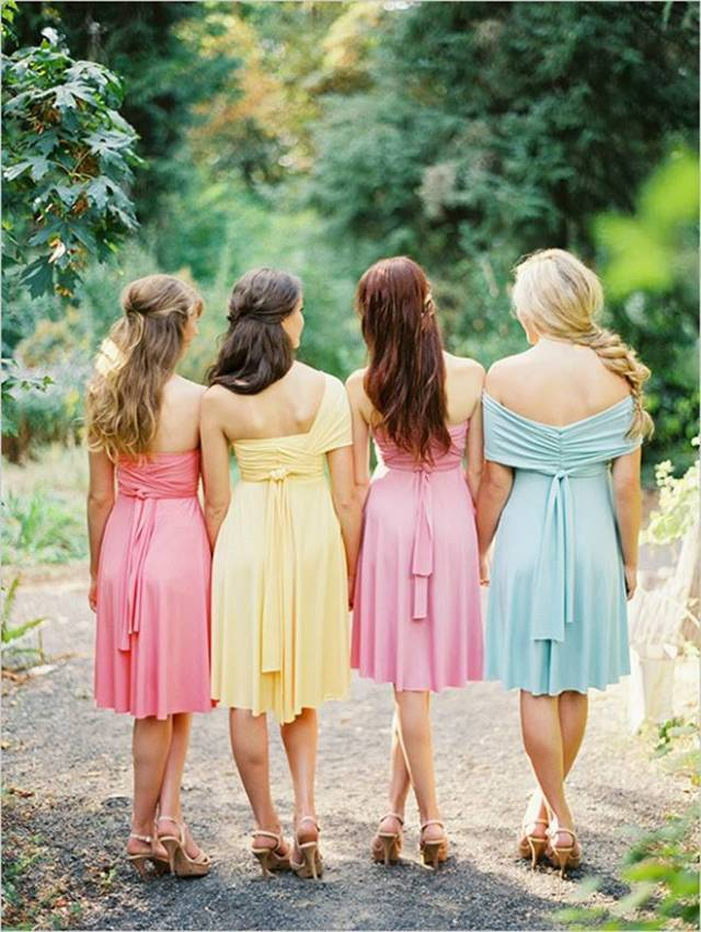 Dessy-Twist-Wrap-Dress-Pink-Yellow-baby-blue-bridesmaid-gowns