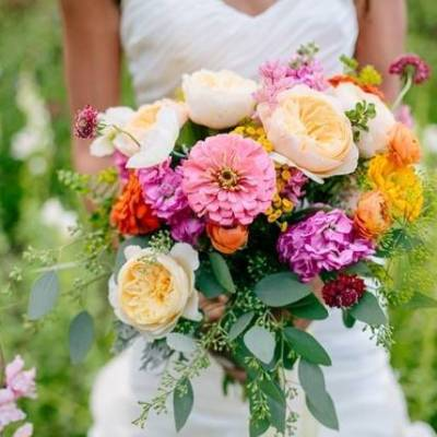 Modern Wildflower Wedding Inspiration {The Light + Color}