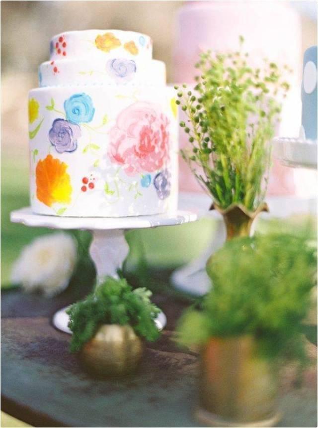 Watercolor wedding cake - pinterest
