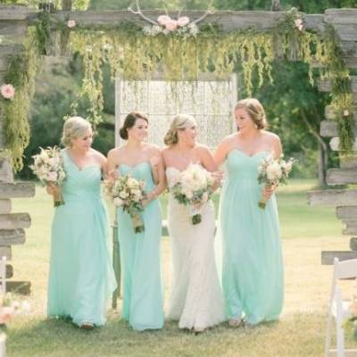 Light Blue Country Wedding with Rustic & DIY Details