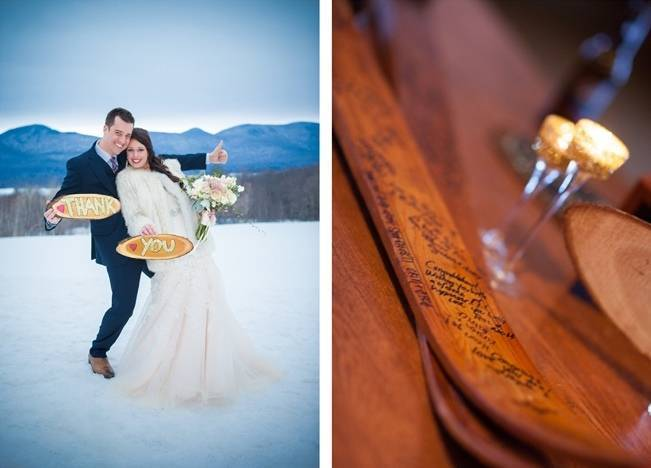 Snowy Winter Wedding in Vermont {Kathleen Landwehrle Photography} 27