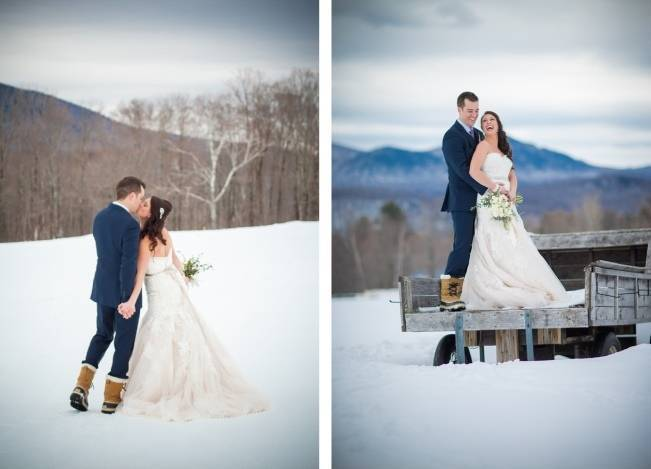 Snowy Winter Wedding in Vermont {Kathleen Landwehrle Photography} 8