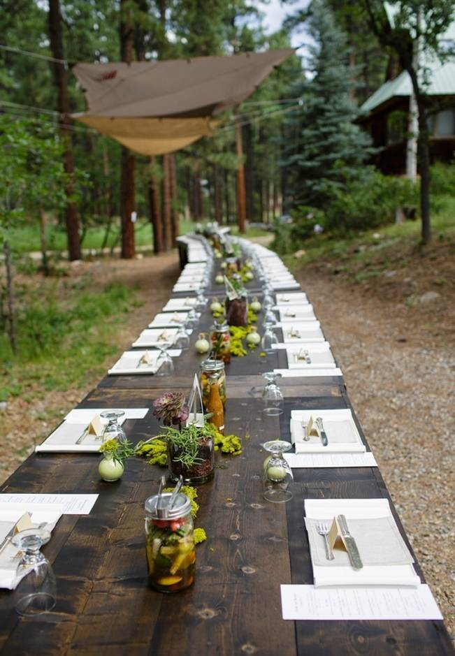 Colorado Mountain Wedding with Farm Table Reception 14