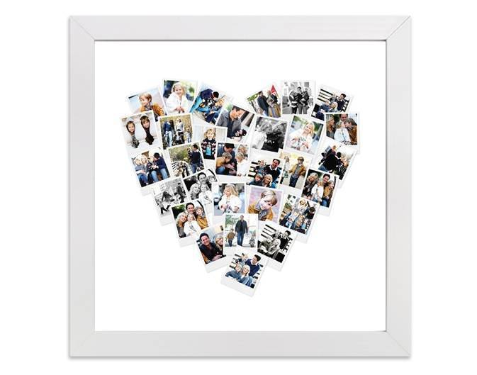 Heart Snapshot Mix™ Photo Art in white frame