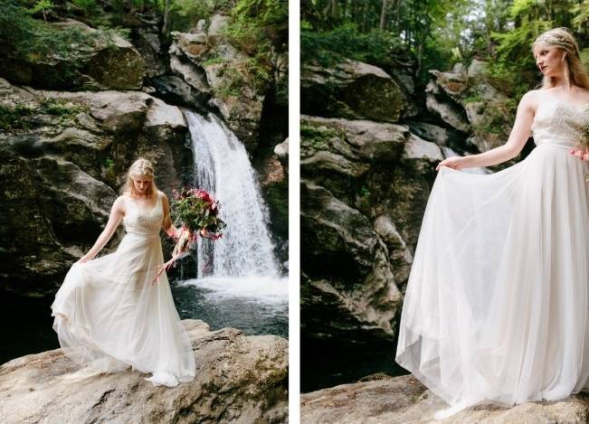 Styled Vermont Waterfall Elopement 6