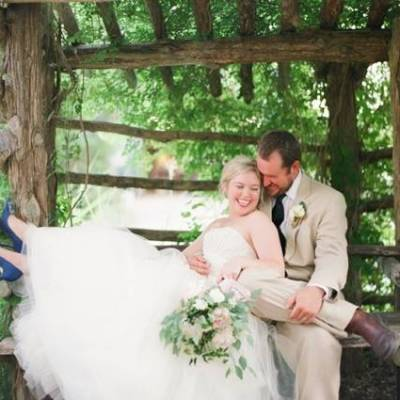 Organic Blush Wedding at a Texas Wildflower Center