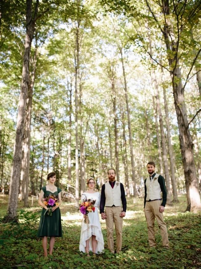 Folksy Supermoon Farm Wedding in Vermont 24