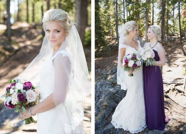 Plum & Nude Rustic Mountain Wedding - Melanie Bennett Photography 4