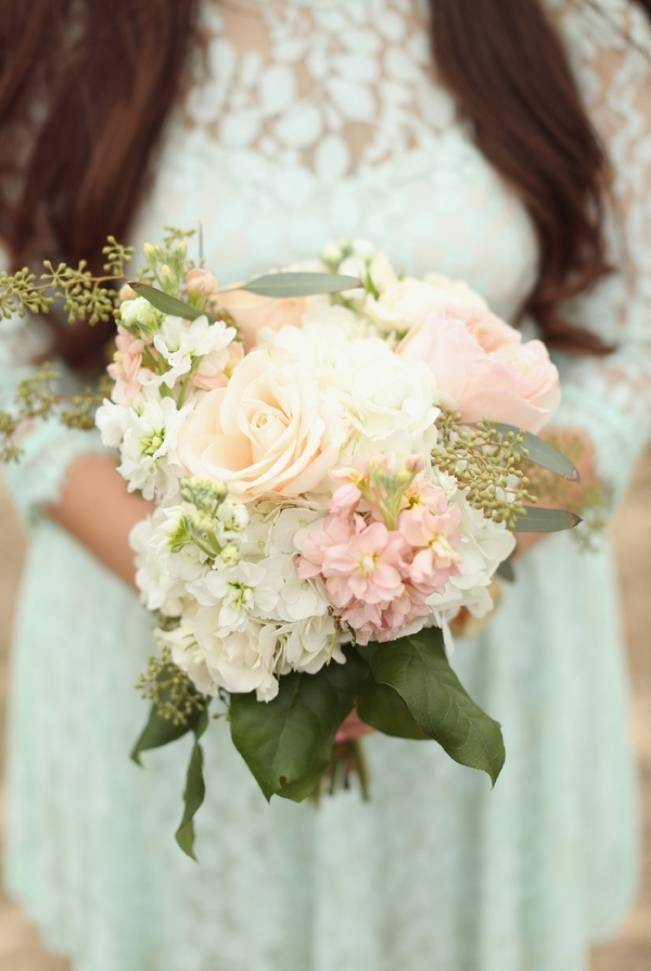 Rustic Mint + Taupe Alabama Barn Wedding 6
