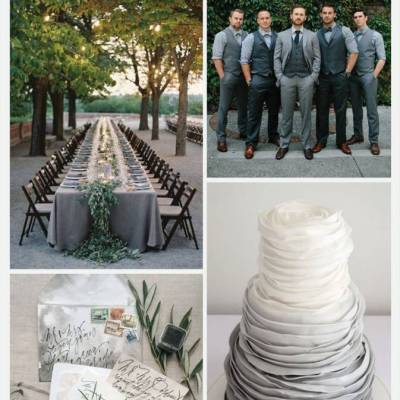 Wedding Color Palette: Hematite