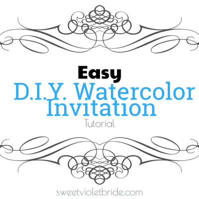 Easy DIY Watercolor Invitation Tutorial