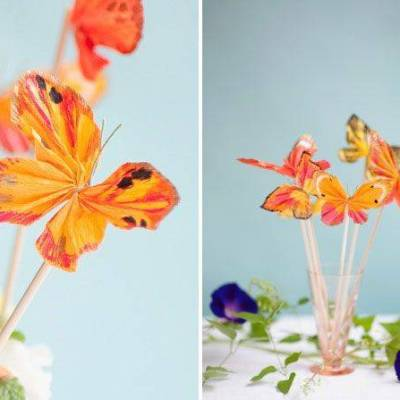 Bright and Beautiful  DIY Butterfly Cake Toppers