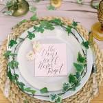 Nature-Infused Place Settings