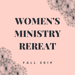 WOMEN'S MINISTRY REREAT website cover