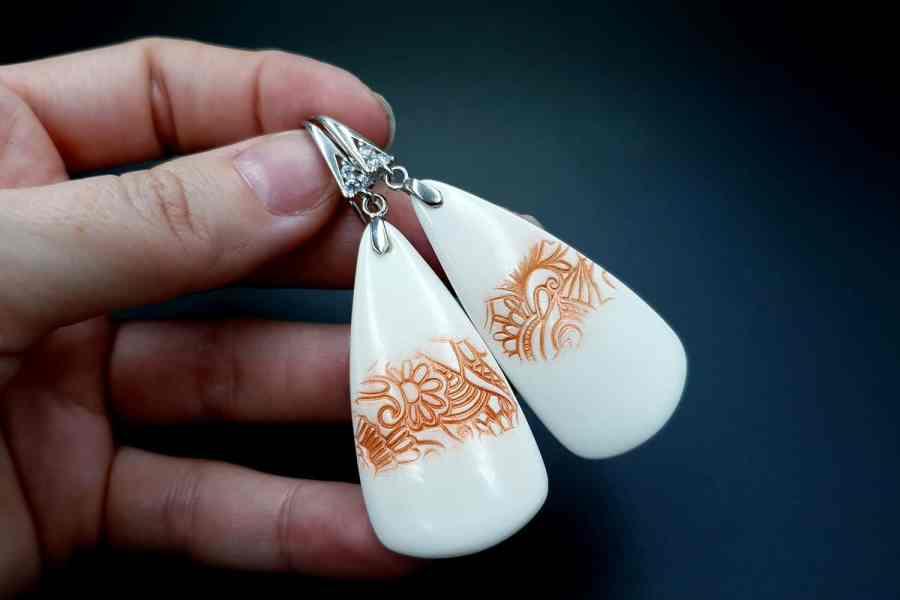 Peach Lace Earrings 07