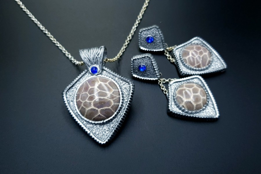 Petoskey Stone Jewelry set 02