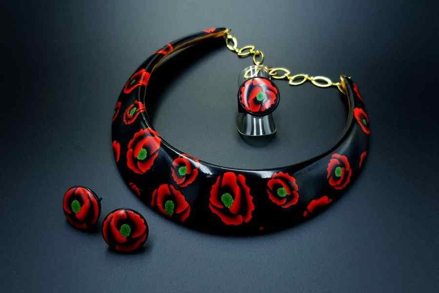 Poppies Field Jewelry Set 07