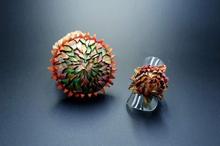 Prickly flower Jewelry Set 03