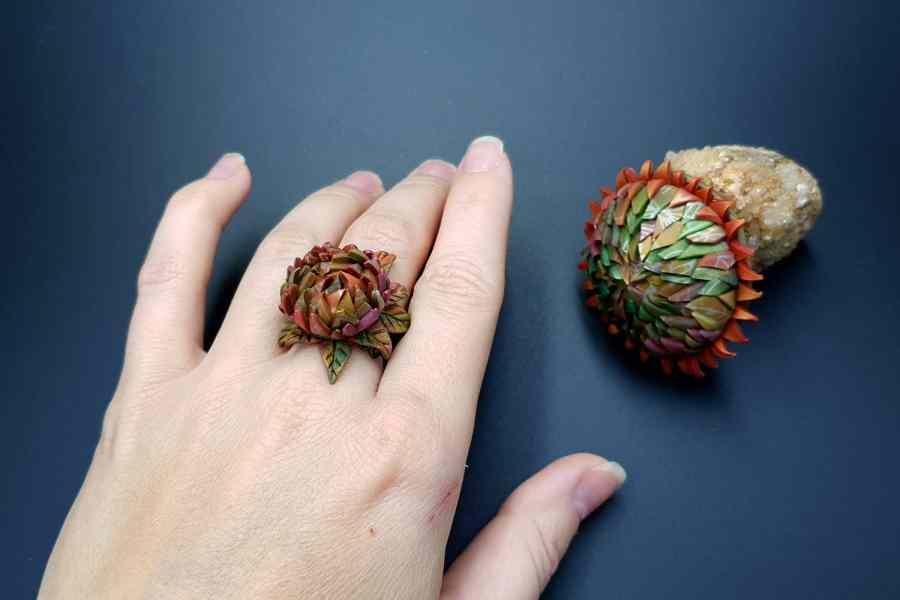Prickly flower Jewelry Set 05