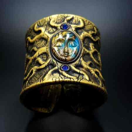 Goddess Face Bracelet Cuff