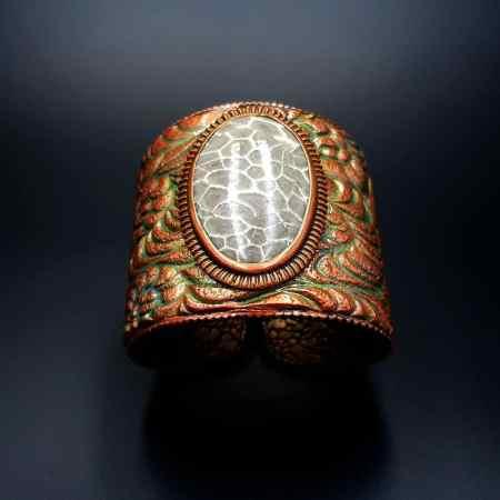 Petoskey Stone Bracelet Cuff