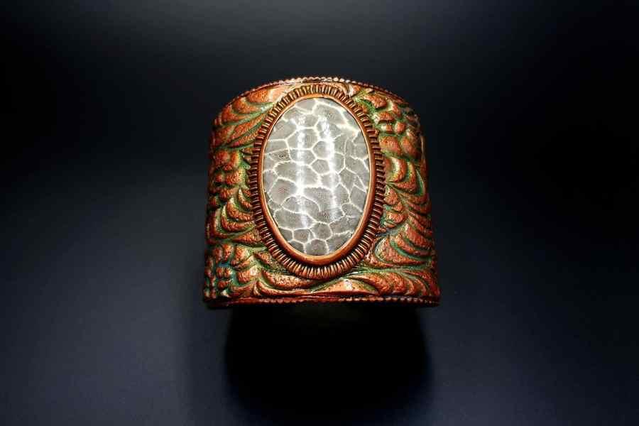 Product Petoskey Stone Bracelet Cuff 02