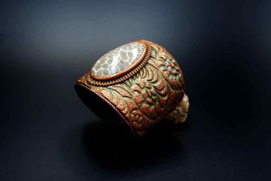 Product Petoskey Stone Bracelet Cuff 04