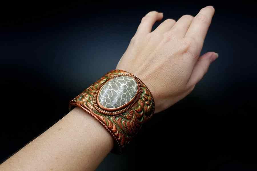 Product Petoskey Stone Bracelet Cuff 07