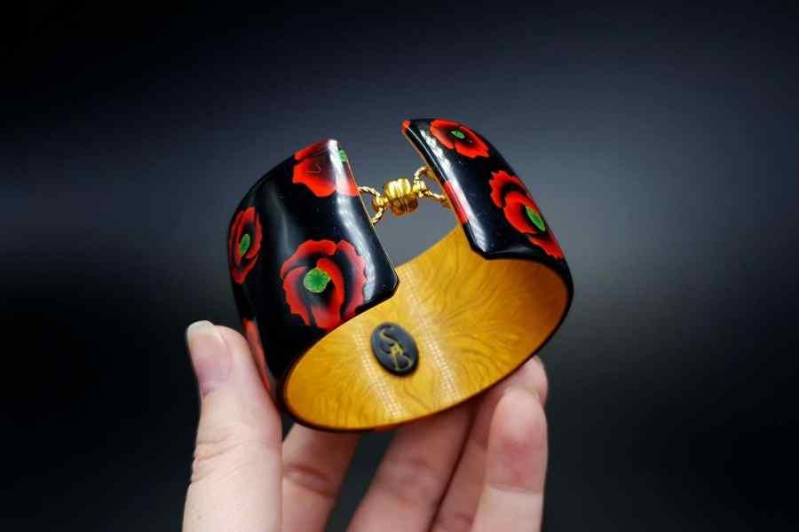 Product Poppy Flowers Bracelet Cuff 04