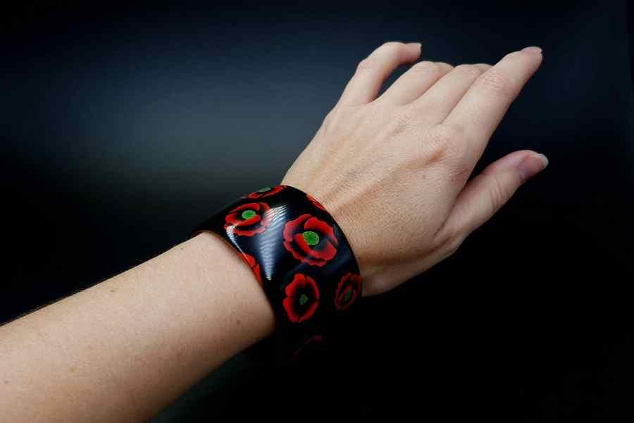 Product Poppy Flowers Bracelet Cuff 06
