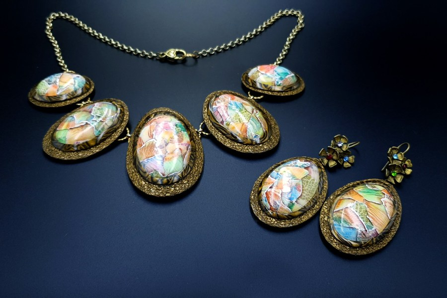 Summer Aquarelle Jewelry Set 01