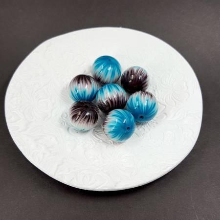Millefiori Technique 7 Round Beads