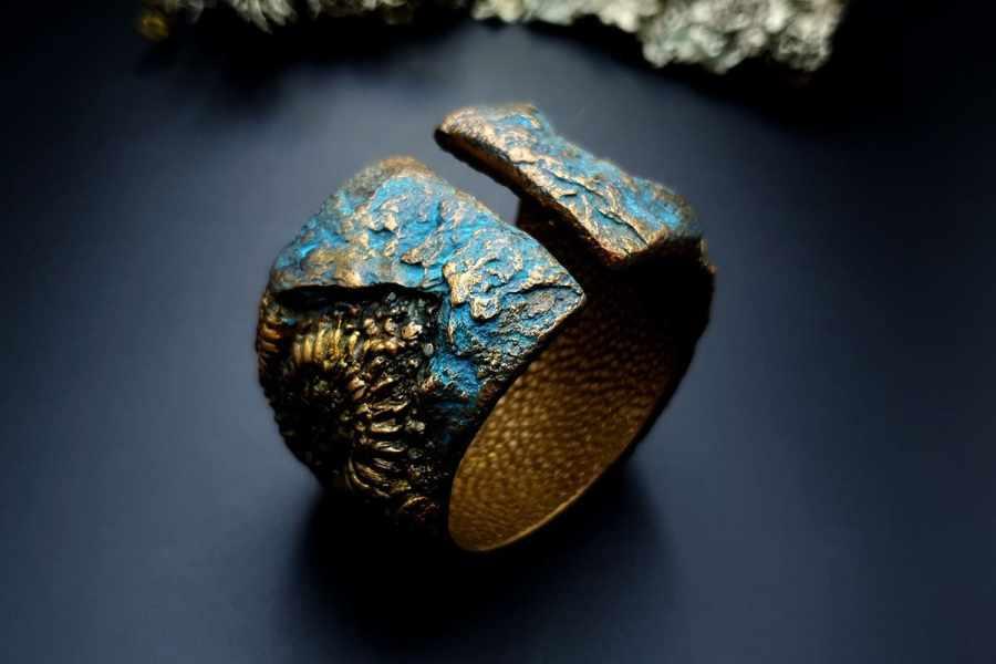 Bracelet Cuff Ammonites img05