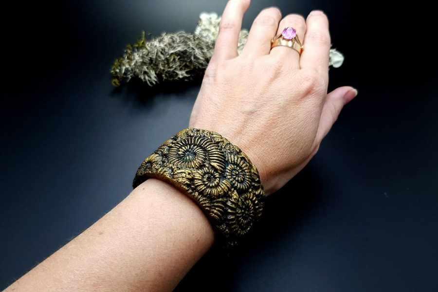 Bracelet Cuff Ammonites img09